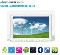 Upgrade Ampe A10 Dual Core Tablet PC,10.1''Capacitive CPU 1.2GHz,IPS Screen,Qualcomm Built in 3G,Cameras Wifi Bluetooth GPS