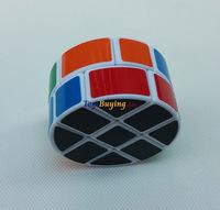 10pcs/lot LanLan 2x3x3 233 Column Pie-shape Round Speed Cube White/Black base PVC sticker Free Shipping