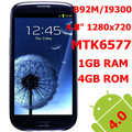 "4.7"" MTK6577 B92M 1GB RAM+4GB ROM 12MPX HD 1280X720 Android 4.1 3G mobile phone"