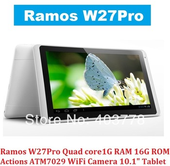 "10.1"" RAMOS W27Pro  Actions ATM7029  Quad core1G RAM 16G Flash WiFi Camera Android 4.1 Tablet PC"