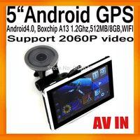 HD GPS Navigator Android tablet PC BoxchipA13 1.2G AVIN 512MB/8GB FMT WIFI 2060P Video External 3G