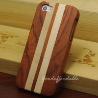Real Natural Stripe Wooden Cover Case for Phone 5