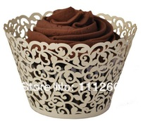 Free shipping Wedding Laser-cut Cupcake Wrappers Party Filigree Lace Cupcake Collars -each color 480pcs/lot LPH0023