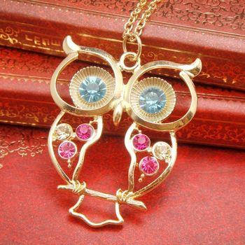 # N227  Fashion small accessories fashion luxury rhinestone Women necklace long necklace accessory   wholesale TZ3.99