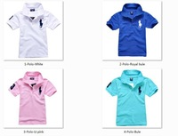 kids t shirt sport kids t shirt children's short sleeve pure color t-shits many colors in stock free shipping .Retail!!