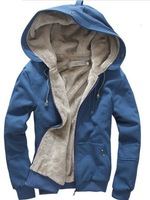 Free shipping new men's plush thick warm overcoat winter coat,cotton padded Jacket for man,wholesale and retail F13
