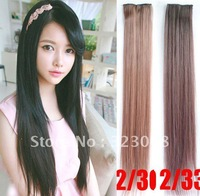 One Piece New Long Synthetic Straight Clip In Hair Extensions Styling Stylish Queens Fashion Hairpiece For Women 5 colors
