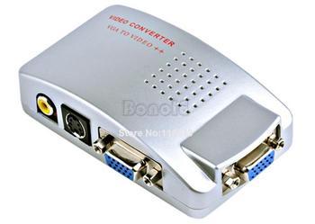 Universal PC Laptop VGA to TV Signal Converter Box Free Shipping 018
