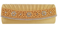 Free shipping 2014 Wholesale full of  pearls flower ladies clutch evening bags ladies evening bag  LBQ196