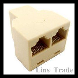 New rj45 network lan splitter extender connector plug #8016