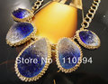 Promotion,Retail wholesale resin bubble statement choker collar bib gold plated chains necklaces fashion jewelry,free shipping