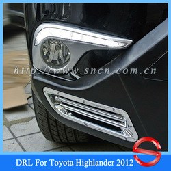Fast And Free Shipping By EMS + CAR-Specific Toyota Highlander 2012 LED DRL,LED Daytime Running Light, Lower Price!(China (Mainland))