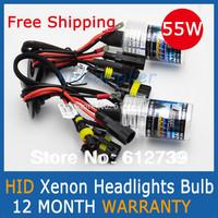 Free Shipping 55W AUTO HID XENON BULBS Xenon Car Lamps Headlights Fog Light 2 Pcs H1 H3 H7 H11 H8 H9 HB3 HB4 9005 9006
