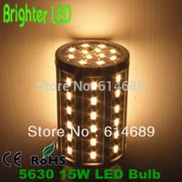 LED Bulb Lamp AC 220V 15W 60SMD 5630 E27 360 Degree Corn Lamp White/Warm Whie