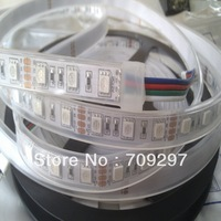 Hot sale! 5m 300LED RGB/white/warm white/blue/red, IP67silicon tube waterproof 12V 5050 LED Strip,60LED/m + free shipping