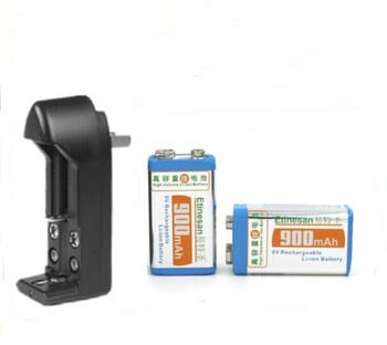 2 pcs Super big capacity 900MAH Li-Ion lithium 9V 8.4v rechargeable battery + Universal 9v AA AAA 18650 14500 CR123A charger set