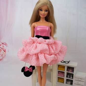 (3 off 13 usd) Fashion Evening Dress Party  Clothes Pink Skirt  for Barbie Doll kurhn doll