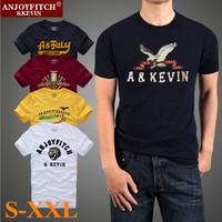 New 2014 American Style S-XXL Summer Cotton Short Sleeve Men T-shirt Man Tees Male Apparel T Shirt Clothing