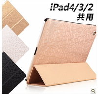 DHL Free Ship Wholesale 20cs/lot Bling Luxury Stand Diamond Crystal Pattern Sitting Leather Case Cover For iPad 2/3 4