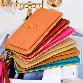 Fashion Candy Colors Ladies' PU Hand bag, Hot Sale Zipper Wallet for Women 21*11cm,5001