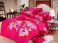 3D Rose print bedding set queen size 100%cotton 4pcs comforter/duvet cover bedlinen bed sheet bedclothes set home textile