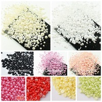 Free shipping 1000pcs/lot Mixed Sizes from 2mm to 10mm ABS Resin Flatback Half round imitation pearls