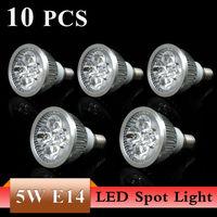 Free Shipping 10PCS E14 3W 5W LED Spot Light Bulbs Lamp White/Warm white AC85-265V