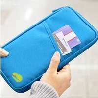 5pcs/lot FREE shipping,Travel wallet,card/ticket holder,clutch,Travelus multifunctional storage bag,6 colors