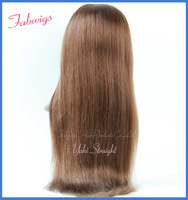 Freeshipping Indian Remy Human Hair Lace front wig #4 Yaki straight 120% density Glueless front lace wig instock wholesale