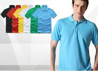 OK Freeshipping summer blue black yellow green  man men male gentleman fit slim cotton polo shirt T-shirt top clothes FZ-MW-TX