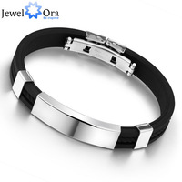 Fashion Men Jewelry Bracelet  Hot Sale Black Stainless Steel, #BA100618 200mm Men Jewelry