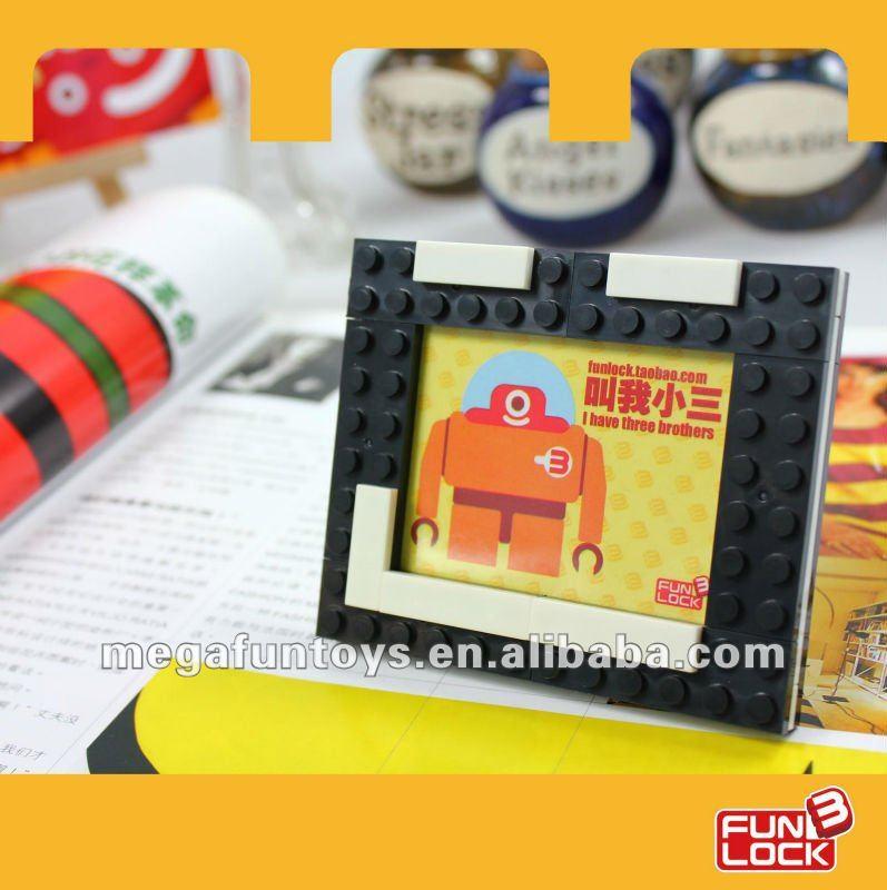Funlock 29pcs, MF002814 Rectangel magic photo frame,building block factory,learning education toys(China (Mainland))