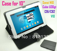 Leather case for 10 inch Sanei N10 Ainol Novo 10 hero Zenithink C91/C92 Cube u30gt 2 Ampe A10 V10/FLYTOUCH3 TABLET PC