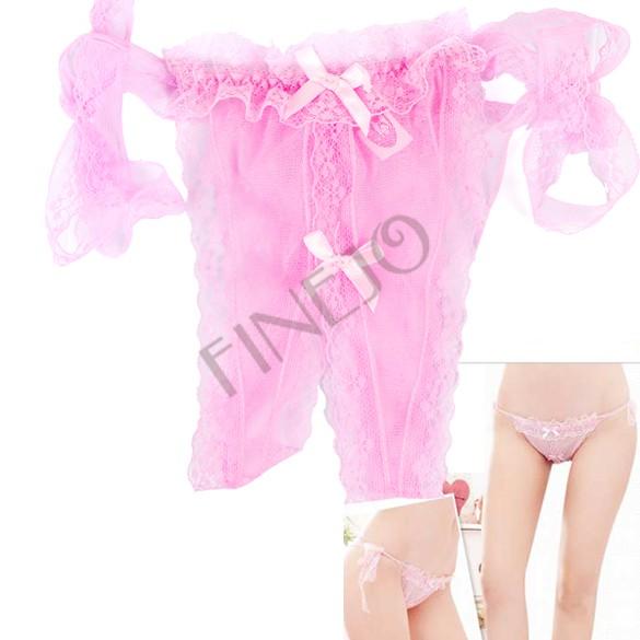 Mulheres Hot Sexy Abrir gancho Slipknot Thongs G -string Bikini Lingerie frete grátis B16 7264(China (Mainland))