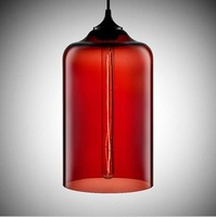 Free shipping Niche Modern Glass Pendant Lights,Dining Room Bar Amber Pendant Lamp Dia 17cm PL075