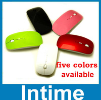 Free shipping 2014 newest fashionable  wireless mouse and mice 2.4G receiver  super slim mouse