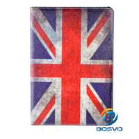 UK Flag design for iPad 2 3 4 Painting Plastic with PU back case classic luxury cover housing 1piece free shipping