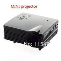 Hot  VGA/AV/USB/SD/HDMI Input Mini led Portable Multimedia Projector 48 Lux Remote Control