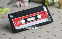 Gift Screen Film!! For ipod Touch 5 3D Retro Cassette Tape Soft Silicone Case