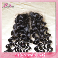 "brazilian curly virgin hair lace closures ,top closure hair,lace top closure swiss lace (4""*4"")  deep curly free shipping"