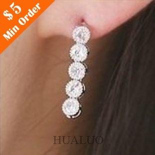 The Smile At Starlight Little Imitation Diamond Earrings E679