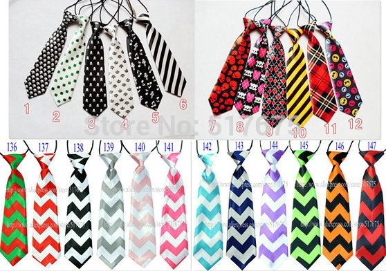 134 designs free shipping baby/kid/children ties neck tie ties Boys Girls tie 20pcs/lot silk print necktiesColors can choose(China (Mainland))
