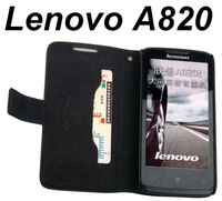 FREE Singapore POST Genuine Leather Cover for Lenovo  A820 / A820T Doormoon Brand