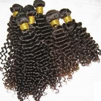 """4 bundles Dyable Peruvian Virgin human hair deep(curly) wavy extension weaves 12""""-28"""" Queen beauty"""