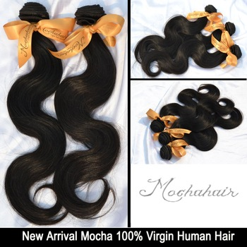 "Hot Saler 7A Grade  Mocha hair products Body Wave Brazilian Virgin Hair Extensions Wholesale Natural Color Tangle Free 10"" -30"""