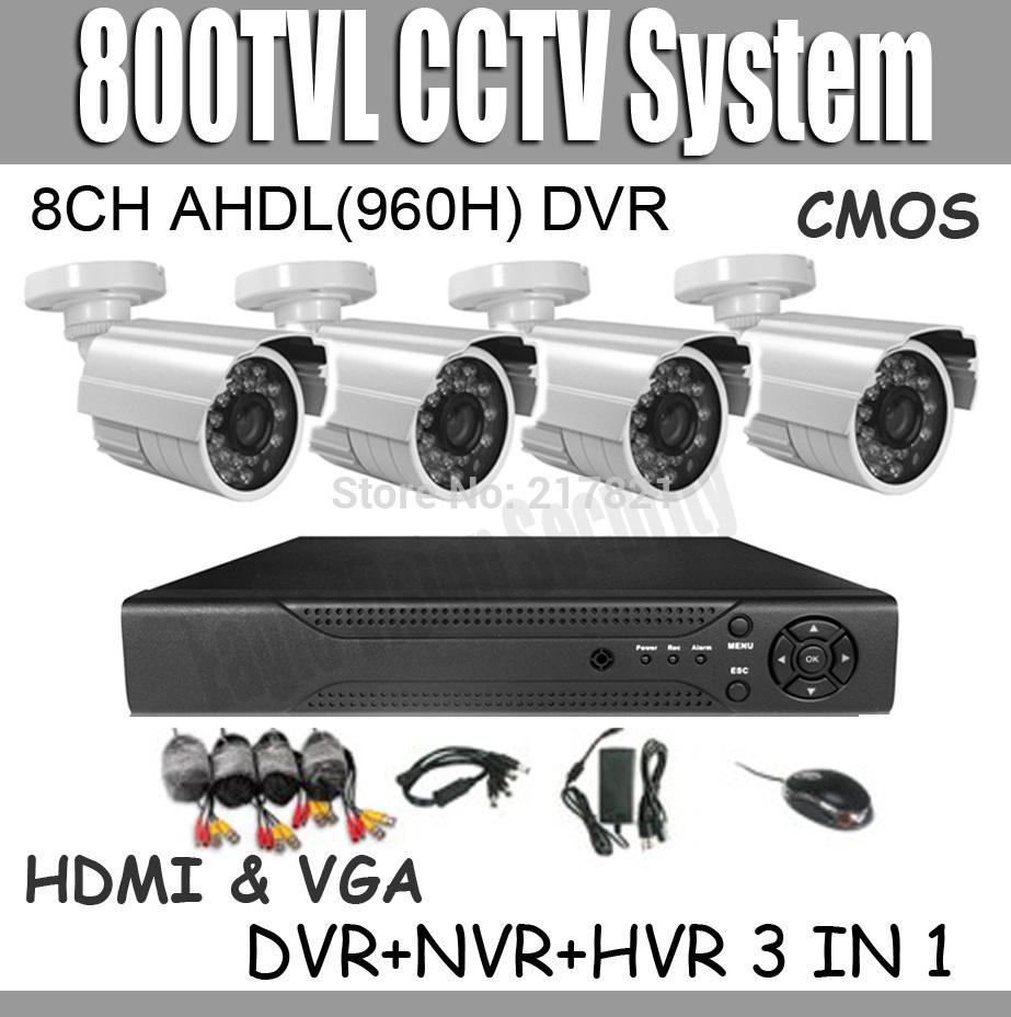 800TVL Surveillance CCTV System NVR Kit 8ch 960H D1 DVR 800TVL IR Cameras CCTV System 8ch DVR Kit Support Onvif 2.0(China (Mainland))