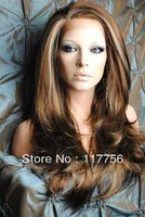 Free shipping factory selling Lady's sexy fashion synthetic front lace wigs
