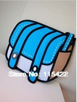 2013 hot sale 3d gismo magic cartoon bag  2d 3d comic messenger promotion good quality free shipping