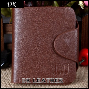Free Shipping Cowhide Wallet,Men's  Genuine Leather Wallet, Three Fold Card Bag, High-Grade Wallet For Men Whosale Price Cowhide