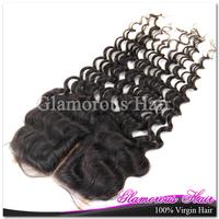 1pcs/lot  6A grade virgin brazilian natural wave hair top lace closure